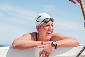 Kim Chambers, extreme swimmer.