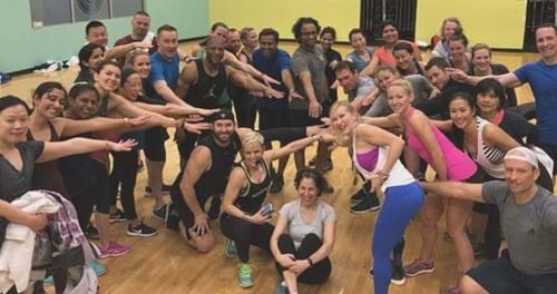 Group at Golds Gym