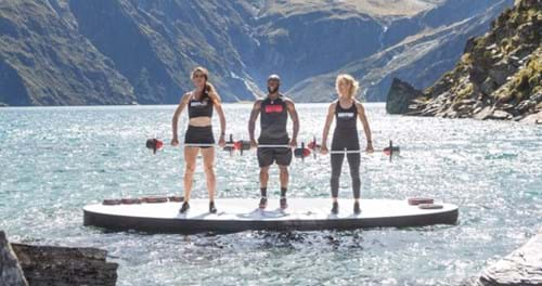 Three people presenting BODYPUMP