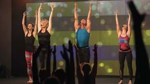 The crowd at Les Mills BODYBALANCE™ filming