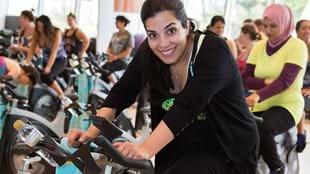 Woman doing a fitness workout in Dubai