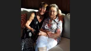 Debby Copeletti and her Fit Hero, her mom, 92 year old Evelyn Catlin.