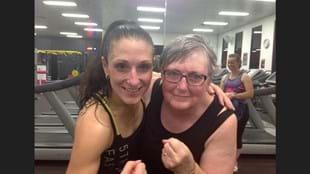 Les Mills instructor Jane Mallard with her fitness inspiration, Debra Gilbert
