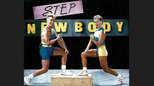 A Les Mills step workout in the early 1990's. (Image courtesy of NZ Fitness magazine)