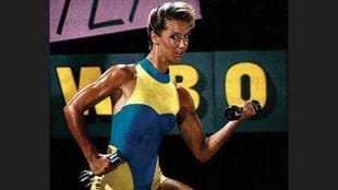 Deidre-Lee Allen in one of the promotional images for Les MIlls' early step program. (Image courtesy of NZ Fitness magazine)