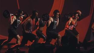 Les Mills presenters powering through this challenging yet fun lunge track.