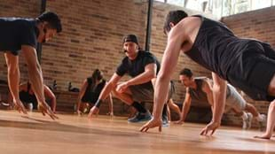 Les Mills GRIT workout with instructor