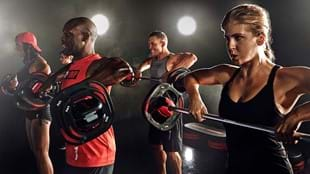 BODYPUMP™ featuring clothing from Reebok and Les Mills.