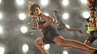 Front and center during a recent Les Mills BODYCOMBAT™ photoshoot